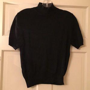 Black short sleeve turtleneck